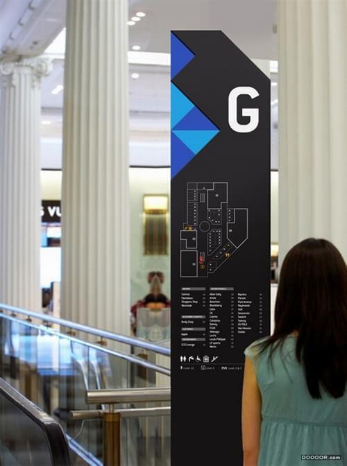 商场标识牌导视系统案例欣赏